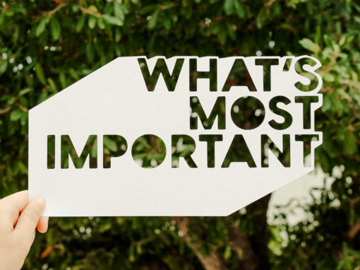 What's Most Important